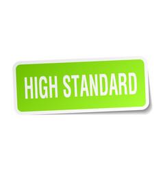 High standard square sticker on white vector