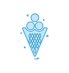 icecream icon design vector image