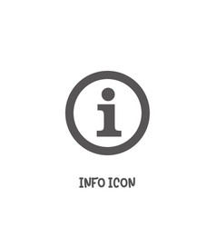 info icon simple flat style vector image