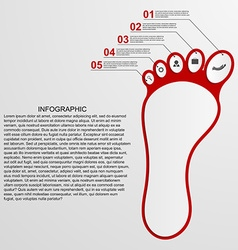 Infographic shaped foot design concept vector image