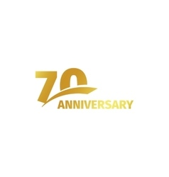 Isolated abstract golden 70th anniversary logo on vector image