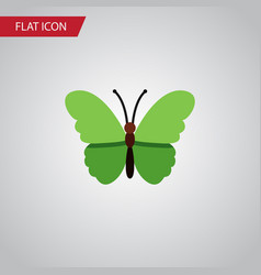 isolated archippus flat icon milkweed vector image