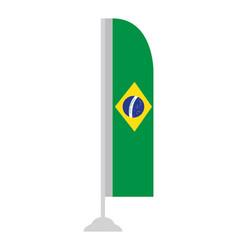 Isolated brazilian flag vector