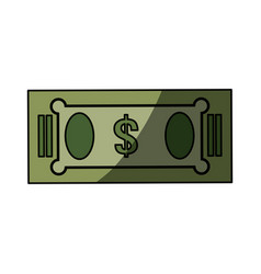 Isolated green money bill vector