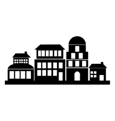 Isolated silhouette of buildings design vector