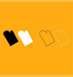 Kitchen glove it is white icon vector