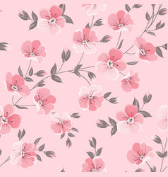 Linum seamless pattern for fabric swatches vector