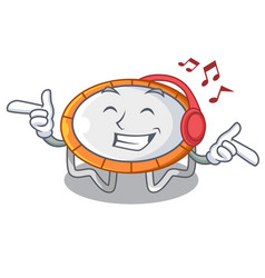 Listening music trampoline icon for vector