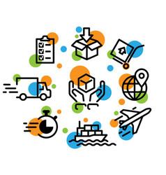 logistics vector image