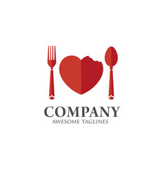 love food logo template vector image