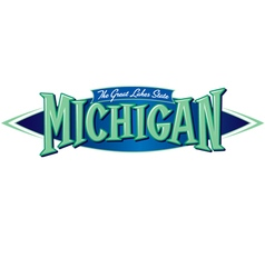 Michigan The Great Lakes State vector image