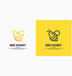 modern linear logos for beekeepers stickers vector image