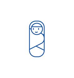 newborn envelope line icon concept newborn vector image