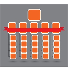 Organization structure template vector image
