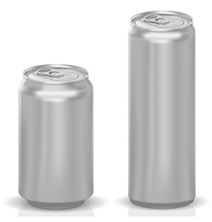 Photorealistic Cans vector