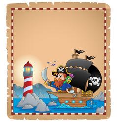 Pirate theme parchment 1 vector