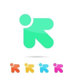 R letter sign arrow vector