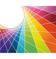 rainbow cell background vector image