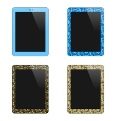 Realistic Concept Of Tablet PC With Blank Screen vector