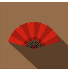red open hand fan icon flat style vector image