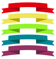 ribbons set icons vector image