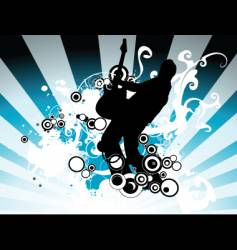 rock music illustration vector image