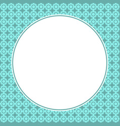 round frame for page book decoration vector image