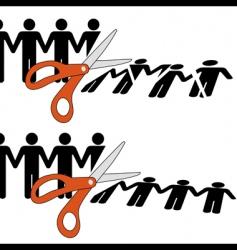 scissors cut vector image vector image