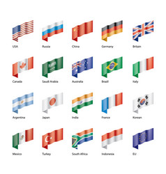 Set of flags of the g20 vector