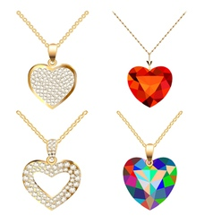 Set pendants pendant with precious vector