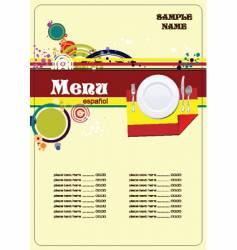 Spanish menu vector image