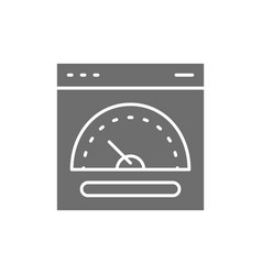 Speed hosting fast server grey icon vector