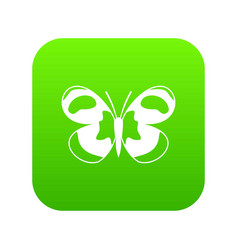 Spotted butterfly icon digital green vector