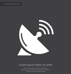 Sputnik antenna premium icon white on dark backgro vector