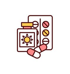 Sun-sensitizing drugs rgb color icon vector