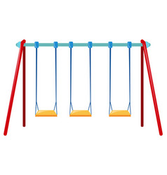Three swings on the bar vector