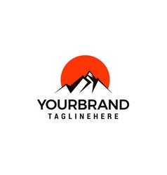 tourism travel logo design template creative vector image