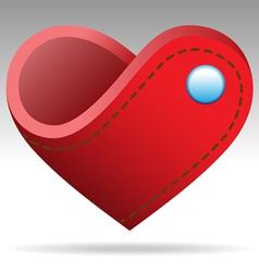 wallet shape heart sign vector image vector image