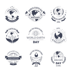 world earth day isolated icon ecology and vector image