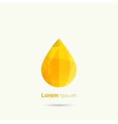 Yellow water drop abstract vector