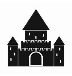 Chillon Castle Switzerland icon simple style vector image