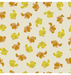 Cute sparrow seamless pattern vector image