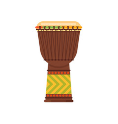 flat style african drum musical instrument djembe vector image vector image