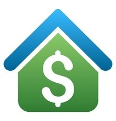 Loan real estate gradient icon vector