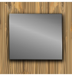 metal on a planks vector image