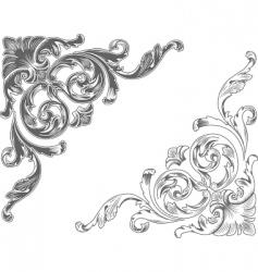 ornamental corners vector image vector image