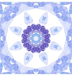 Purple and blue circle lace ornament snowflake vector