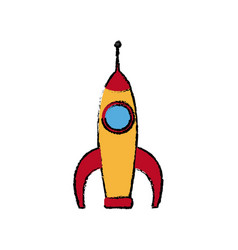 Space rocket launch power science vector