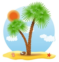 tropical palm tree 01 vector image