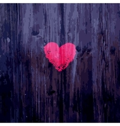 Valentine heart on wooden background vector image vector image